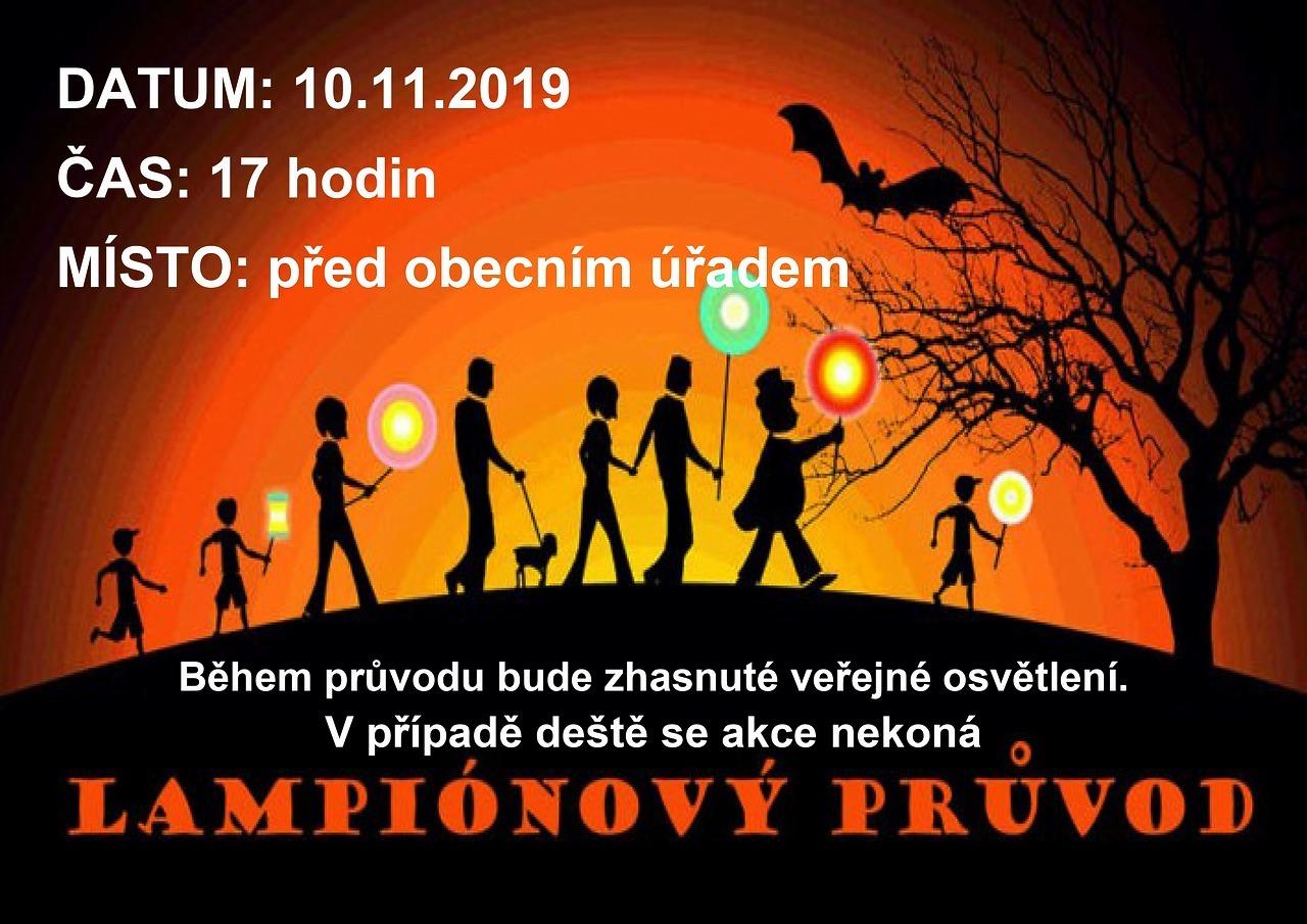 Lampiónový průvod 10.11.2019 v 17:00
