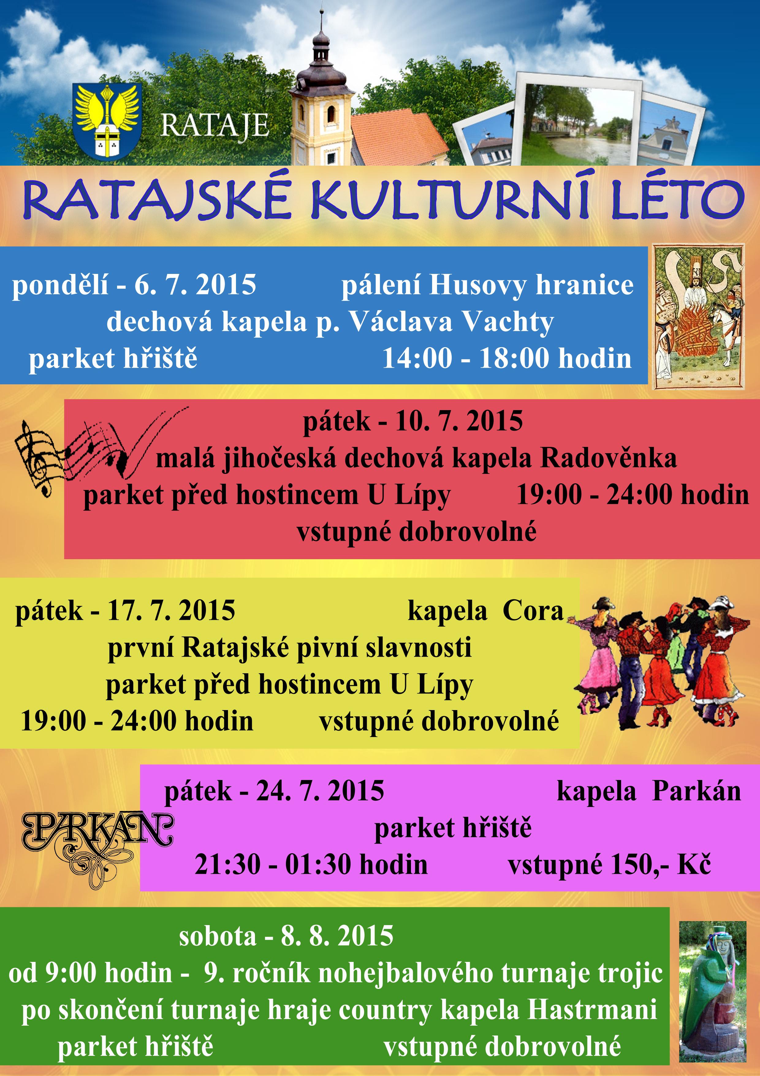 Program Ratajského kulturního léta 2015