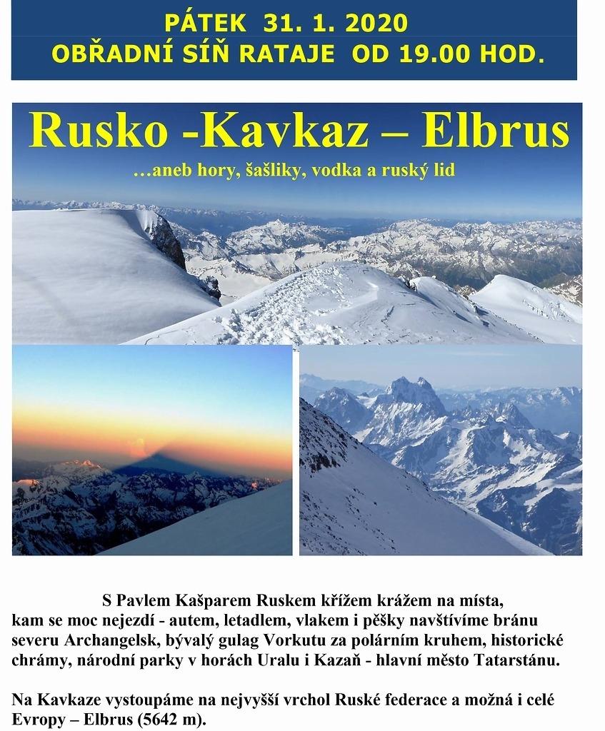 Přednáška Rusko-Kavkaz.Elbrus
