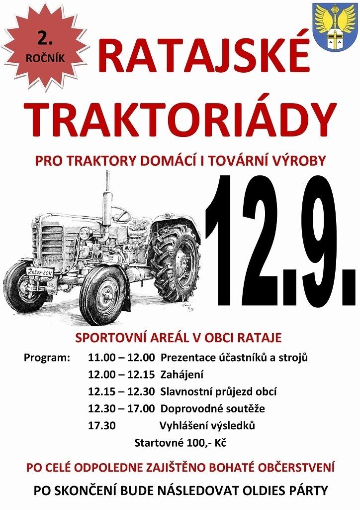Pozvánka na 2. ročník Ratajské traktoriády