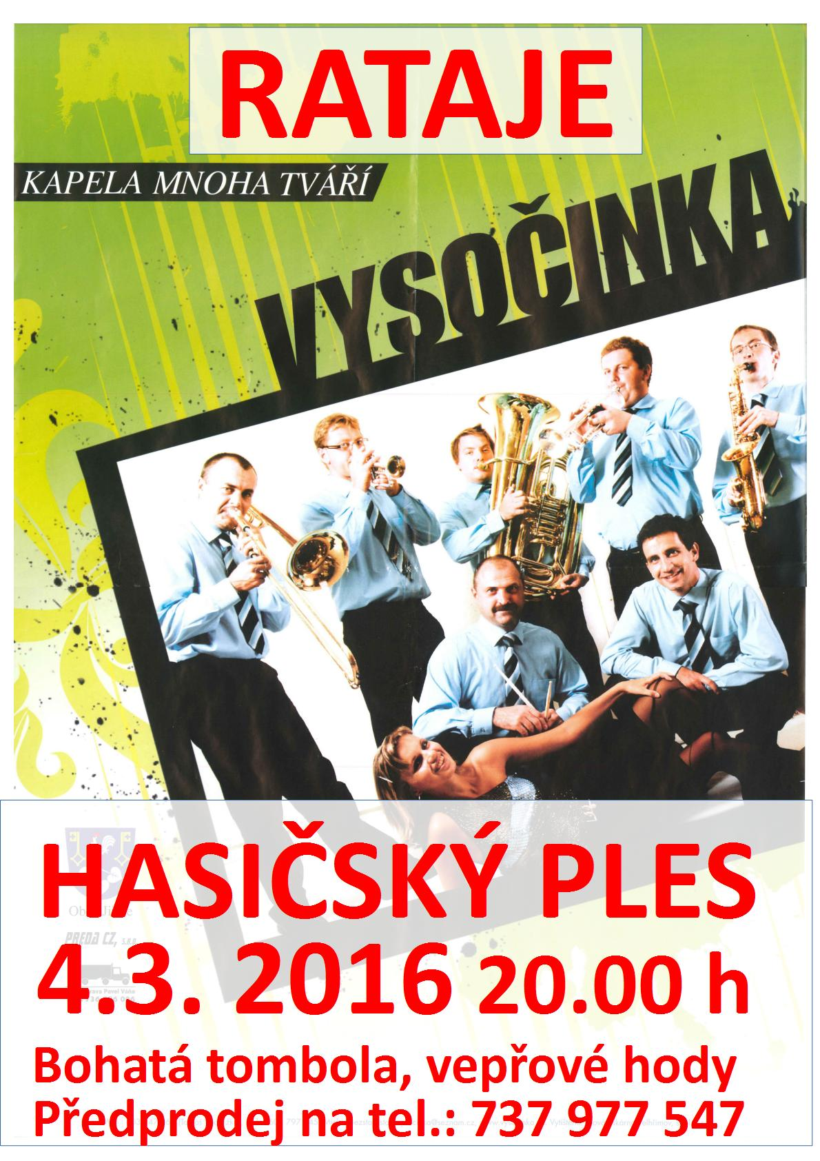Hasičský ples 4.3. 2016