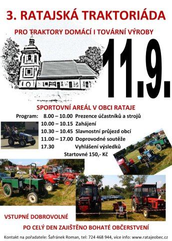 3. ročník ratajské traktoriády